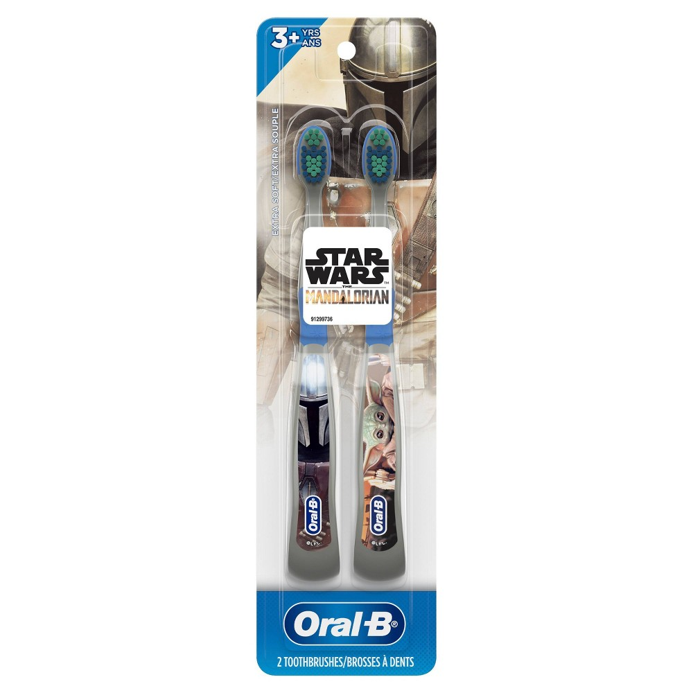 Oral-B Kids Manual Toothbrush featuring Star Wars: The Mandalorian Extra Soft Bristles - 2ct from Oral-B