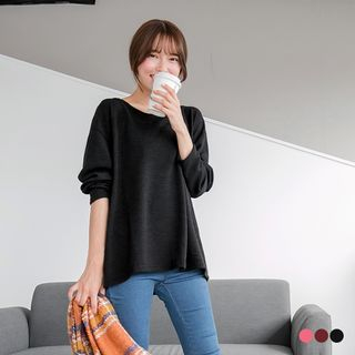 Long Sleeve Round Neck Knit Top from OrangeBear
