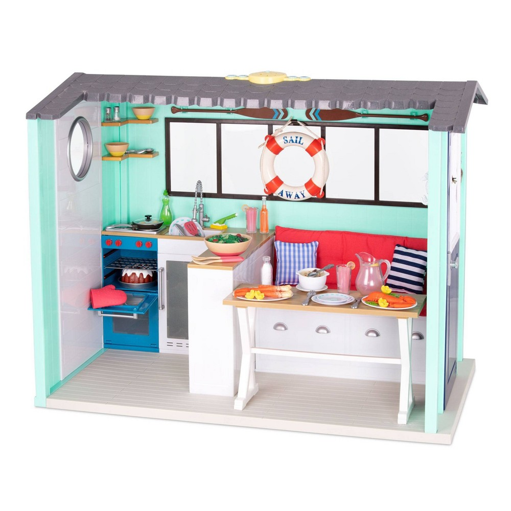 "Our Generation Seaside Beach House Playset for 18"" Dolls from Our Generation"
