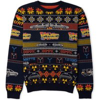 Back to the Future Christmas Knitted Sweater - Navy - M from Own Brand