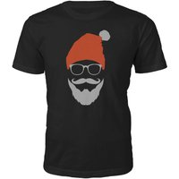 Cool Santa Christmas T-Shirt - Black - XXL - Black from The Christmas Collection