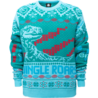 Jurassic Park Roars Knitted Jumper - Green - XS from Own Brand
