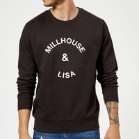 Millhouse & Lisa Sweatshirt - Black - L - Black from Own Brand