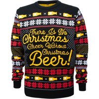 Novelty Christmas Beer Jumper - Black - S from Own Brand