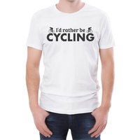 I'd Rather Be Cycling Men's White T-Shirt - XXL - White from T-Junkie