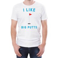 I like Big Putts Men's White T-Shirt - L - White from T-Junkie