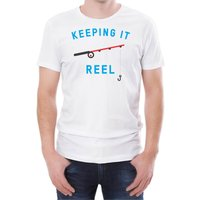 Keeping It Reel Men's White T-Shirt - S - White from T-Junkie