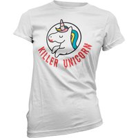 Killer Unicorn Women's White T-Shirt - S - White from Own Brand
