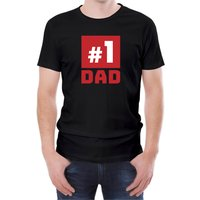 Number One Dad Men's Black T-Shirt - XXL - Black from T-Junkie
