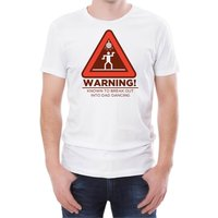 Warning Dad Dancing Men's White T-Shirt - M - White from T-Junkie