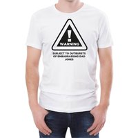 Warning Dad Jokes Men's White T-Shirt - XXL - White from T-Junkie