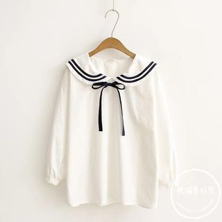 Tie Neck Chiffon Shirt from PANDAGO