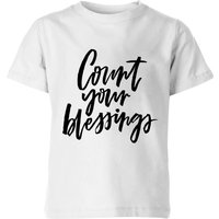 Count Your Blessings Kids' T-Shirt - White - 7-8 Years - White from PLANETA444