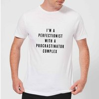 I'm A Perfectionist with A Procrastinator Complex Men's T-Shirt - White - M - White from PLANETA444