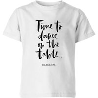 PlanetA444 Time To Dance On The Tables Kids' T-Shirt - White - 9-10 Years - White from PLANETA444