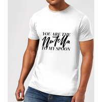 PlanetA444 You Are The Nutella To My Spoon Men's T-Shirt - White - L - White from PLANETA444