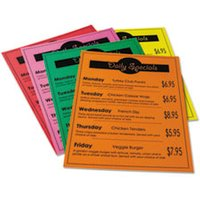 Array Card Stock, 65 lb., Letter, Assorted Bright Colors, 50 Sheets/Pack from Pacon