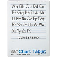 Chart Tablets w/Manuscript Cover, Ruled, 24 x 32, White, 25 Sheets from Pacon