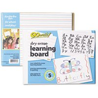 Dry Erase Learning Boards, 8 1/4 x 11, 5 Boards/PK from Pacon