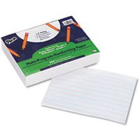 "Multi-Program Handwriting Paper, 1/2"" Long Rule, 10-1/2 x 8, White, 500 Shts/Pk from Pacon"