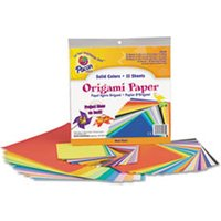 Origami Paper, 30 lbs., 9-3/4 x 9-3/4, Assorted Bright Colors, 55 Sheets/Pack from Pacon