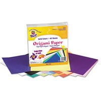 Origami Paper, 30 lbs., 9 x 9, Assorted Bright Colors, 40 Sheets/Pack from Pacon