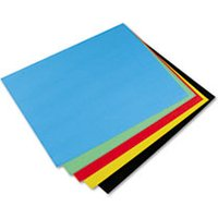 Peacock Four-Ply Railroad Board, 22 x 28, Assorted, 25/Carton from Pacon