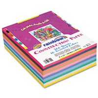 Rainbow Super Value Construction Paper Ream, 45 lb, 9 x 12, Assorted, 500 Sheets from Pacon