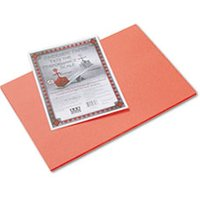 Riverside Construction Paper, 76 lbs., 12 x 18, Orange, 50 Sheets/Pack from Pacon