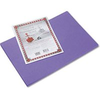 Riverside Construction Paper, 76 lbs., 12 x 18, Violet, 50 Sheets/Pack from Pacon