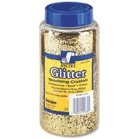 Spectra Glitter, .04 Hexagon Crystals, Gold, 16 oz Shaker-Top Jar from Pacon