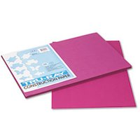 Tru-Ray Construction Paper, 76 lbs., 12 x 18, Magenta, 50 Sheets/Pack from Pacon