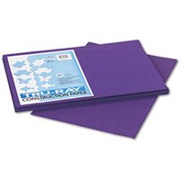 Tru-Ray Construction Paper, 76 lbs., 12 x 18, Purple, 50 Sheets/Pack from Pacon