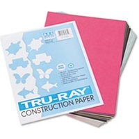 Tru-Ray Construction Paper, 76 lbs., 9 x 12, Assorted, 50 Sheets/Pack from Pacon