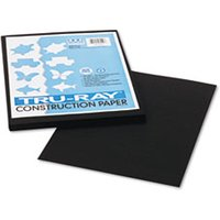 Tru-Ray Construction Paper, 76 lbs., 9 x 12, Black, 50 Sheets/Pack from Pacon