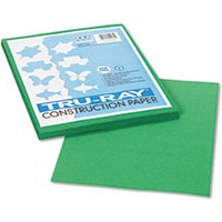 Tru-Ray Construction Paper, 76 lbs., 9 x 12, Holiday Green, 50 Sheets/Pack from Pacon