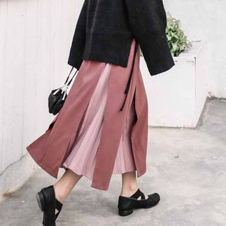 Color-Block A-line Skirt from Paila