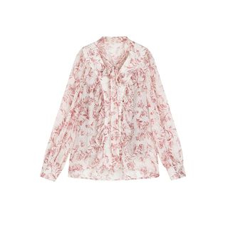 Floral Print Chiffon Blouse from Paila