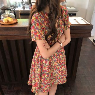 Short-Sleeve Floral Dress from Paila