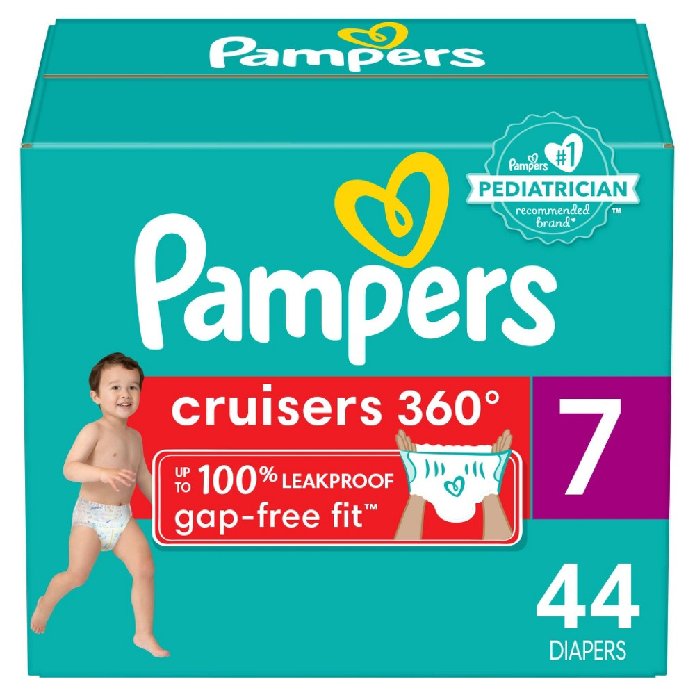Pampers Cruisers 360 Diapers Super Pack - Size 7 - 44ct from Pampers