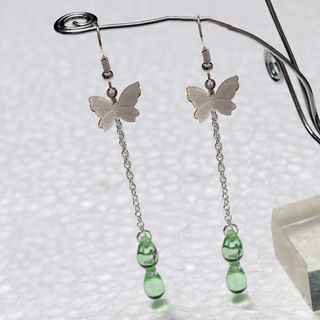 Chinese Butterfly Drop Earrings from Paparazzi
