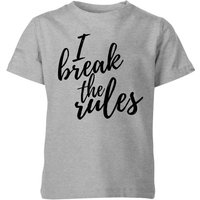 My Little Rascal I Break The Rules Kids' T-Shirt - Grey - 3-4 Years - Grey from My Little Rascal