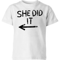 My Little Rascal She Did It Kids' T-Shirt - White - 5-6 Years - White from My Little Rascal