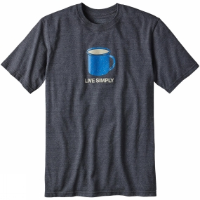 Mens Live Simply Mornings Cotton/Poly Responsibili-Tee from Patagonia