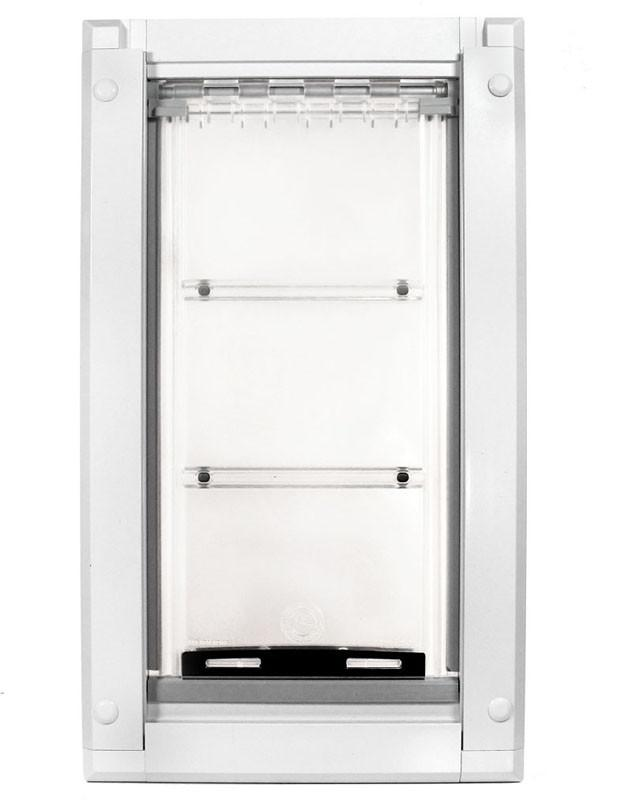 Patio Pacific 03pp08-2 Endura Flap Medium Dog Door Mount - 8 x 14, double flap, white frame from Patio Pacific