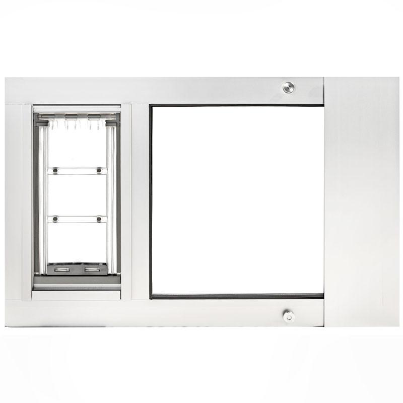 Patio Pacific 07ppc12-dw Thermo Sash 3e - XL with Endura Flap - white, 28- 31 adjustment range, final sale from Patio Pacific