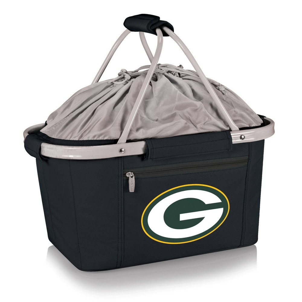 Green Bay Packers - Metro Basket Collapsible Tote by Picnic Time (Black) from Picnic Time