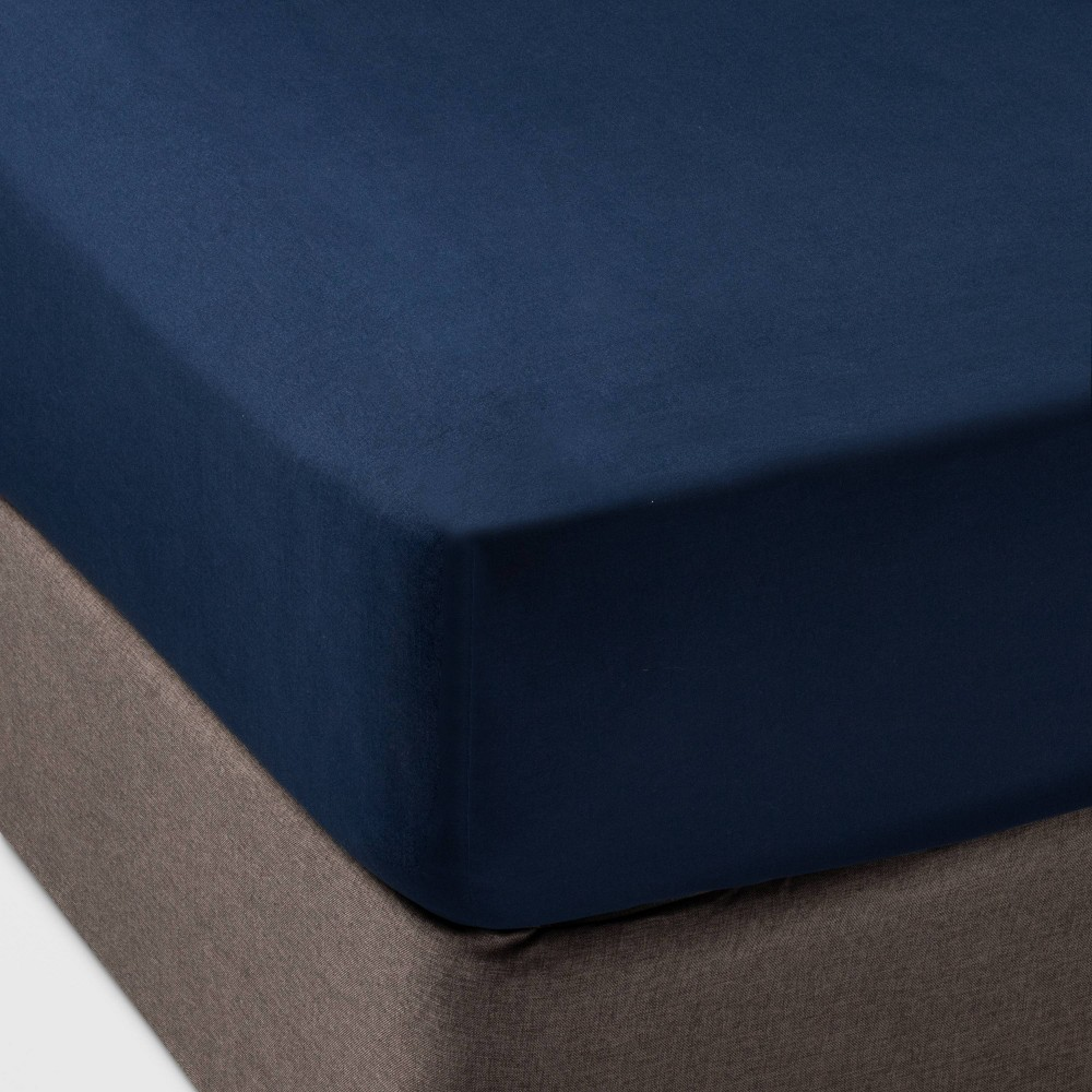 Full Solid Fitted Sheet Separates Navy - Pillowfort from Pillowfort