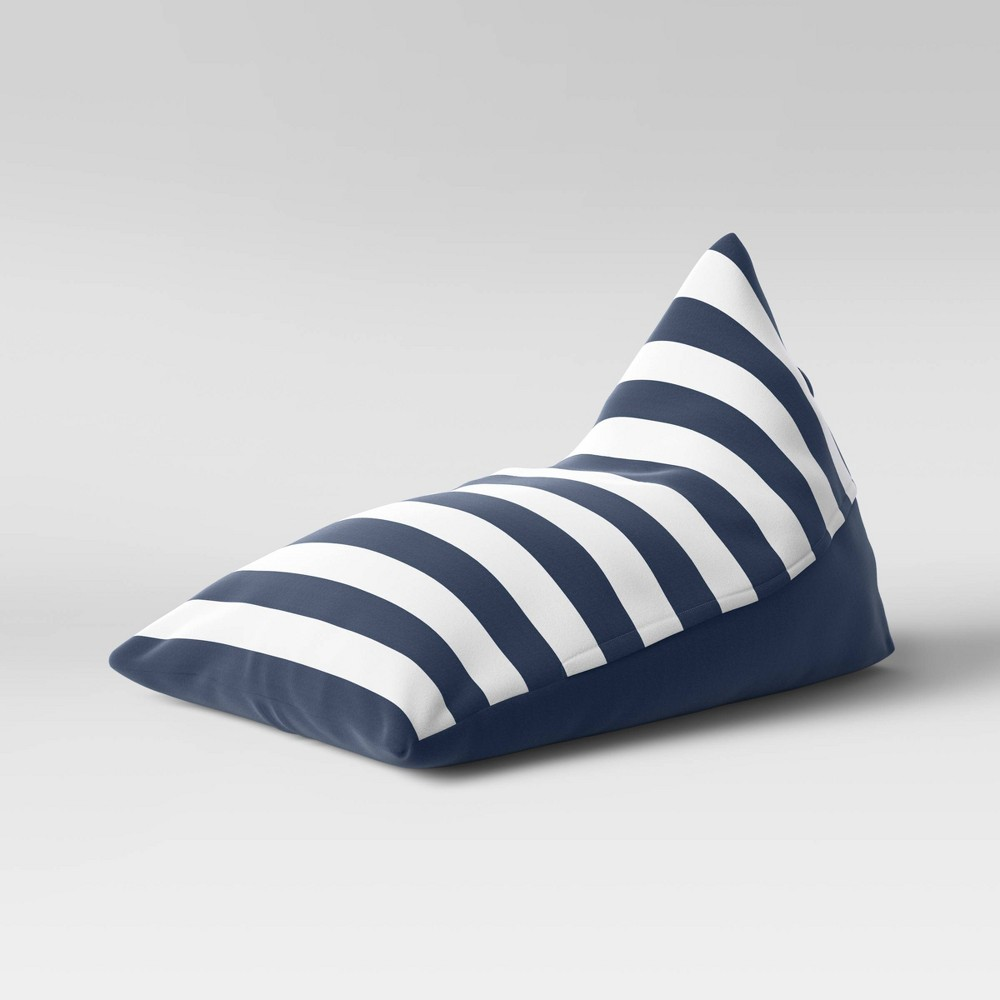 Triangle Lounge Chair Stripe White/Navy - Pillowfort from Pillowfort