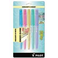 FriXion Light Pastel Collection Erasable Highlighters, Assorted, 5/Pack from Pilot